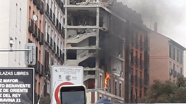 Edifici del carrer Toledo després de l'explosió