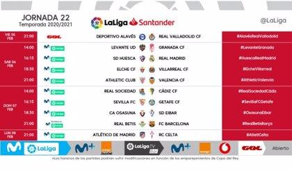 El Atlético-Celta cerrará la jornada 22 el lunes 8 de febrero