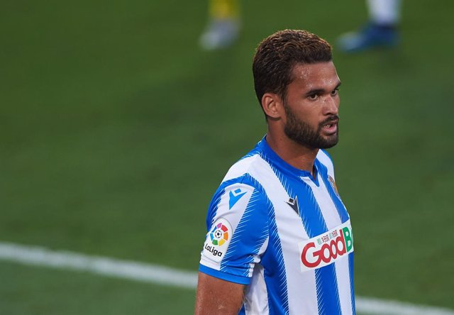 Willian Jose Da Silva of Real Sociedad during the la La Liga Santander mach between Villarreal and Real Sociedad at La Ceramica Stadium, on July 13, 2020 in Vila-real, Spain