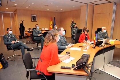 """Gámez reafirma el compromiso de la Guardia Civil con Europol y pone en valor la """"cooperación internacional"""""""