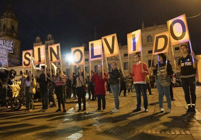 Protesta contra la violencia en Colombia.