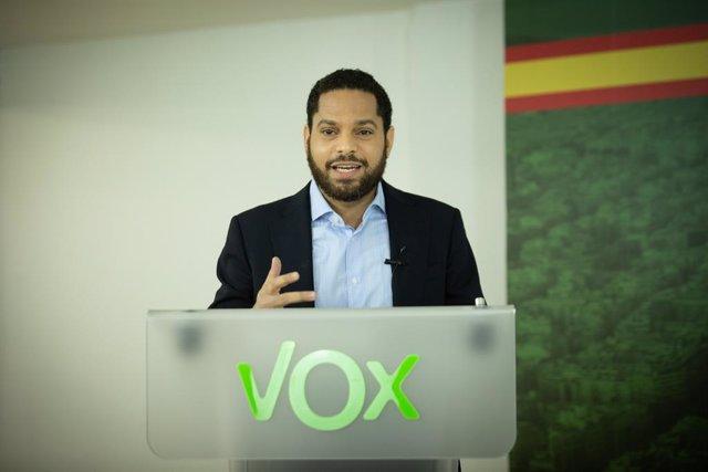 El candidat de Vox a les eleccions catalanes, Ignacio Garriga, en la Trobada Digital d'Europa Press.