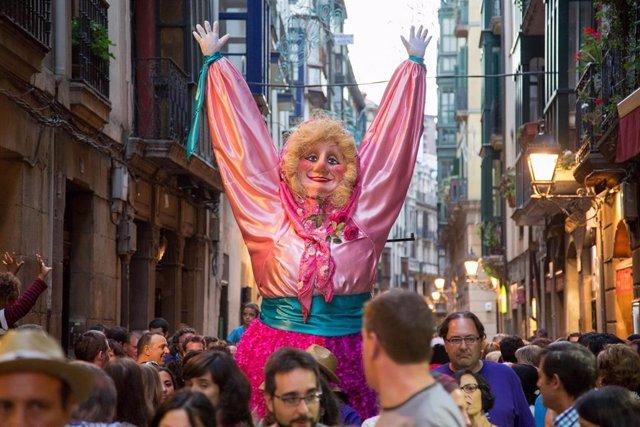 Marijaia en Aste Nagusia de Bilbao.