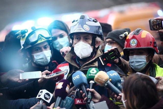 El director general de Emergencias y Protección Civil del Ayuntamiento de Madrid, Enrique López Ventura.