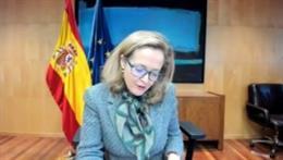 La vicepresidenta tercera, Nadia Calviño, en el Foro Inserta.