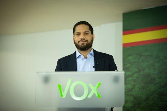 El candidat de VOX a la presidència de la Generalitat, Ignacio Garriga, durant una Trobada Digital d'Europa Press. Catalunya (Espanya), 21 de gener del 2021.