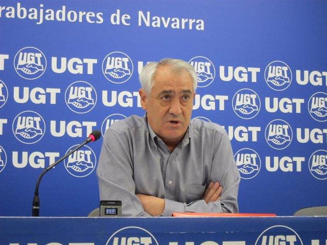 Jesús Santos, secretario general de UGT en Navarra