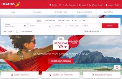 Iberia amplía su campaña de precios al 1 de febrero para volar hasta el 14 de diciembre de 2021