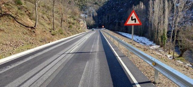 Los trabajos han consistido en la mejora del trazado de la carretera existente