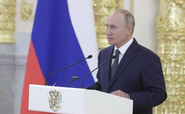 Putin en un discurso en el Senado ruso