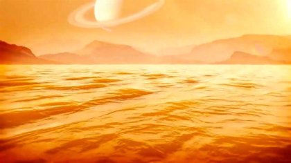 El principal mar de Titán supera los 300 metros de profundidad