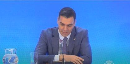 """Sánchez ve una """"clara recuperación"""" y dice que la inversión internacional supondrá el 50% del PIB en 2021"""