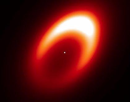 Un torbellino alrededor de un posible exoplaneta en ciernes