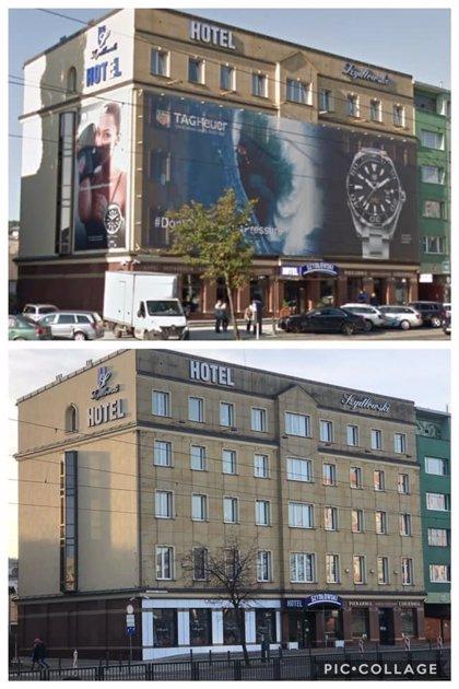 Imágenes de la ciudad de Gdansk antes y después de la publicidad muestran el impacto de la Ley de Protección del Paisaje