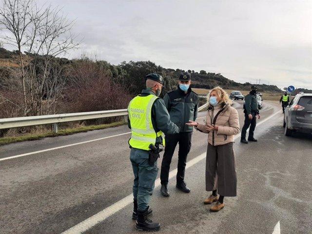 Se refuerzan los controles perimetrales en Huesca por el puente festivo de San Vicente.