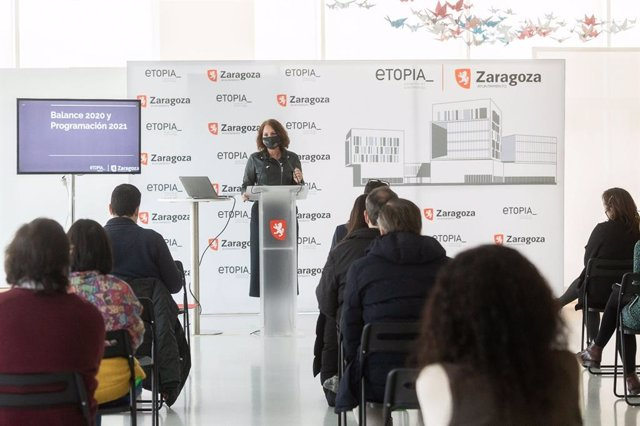 La consejera municipal de Economía, Innovación y Empleo del Ayuntamiento de Zaragoza, Carmen Herrarte