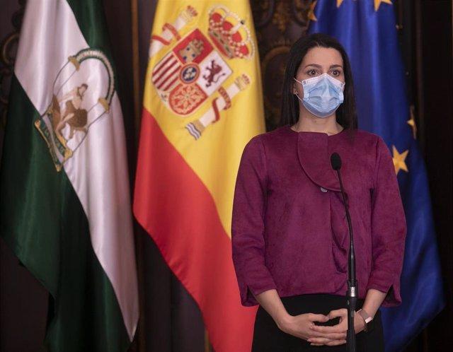 La presidenta de Ciudadanos (Cs), Inés Arrimadas