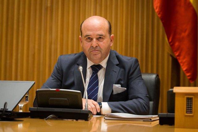 El presidente de la Asociación de Cadenas Españolas de Supermercados, Aurelio del Pino, en la Comisión de Agricultura del Congreso