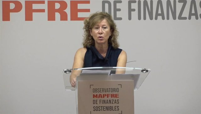 La subgobernadora del Banco de España, Margarita Delgado, en el I Foro del Observatorio Mapfre de Finanzas Sostenibles.