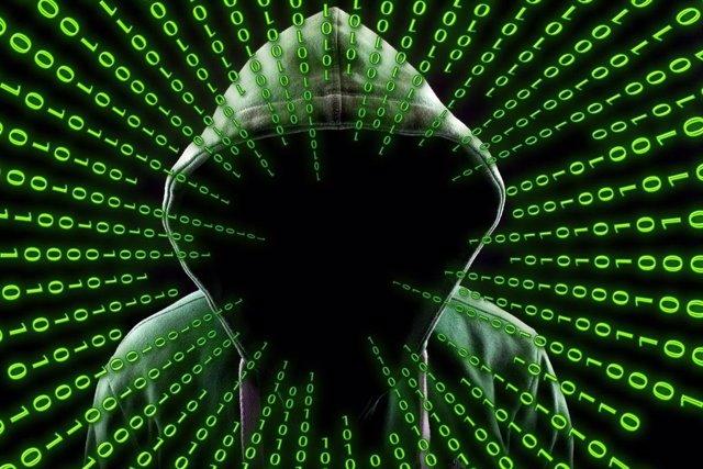 Imagen de archivo de un hacker.