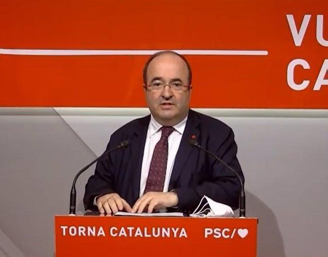 Primer secretari del PSC, Miquel Iceta