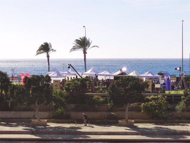 Rodaje de MasterChef en el Parc de la Mar de Palma.