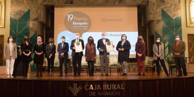 El Teléfono de la Esperanza en Aragón, ganador del 19 Premio Ebrópolis