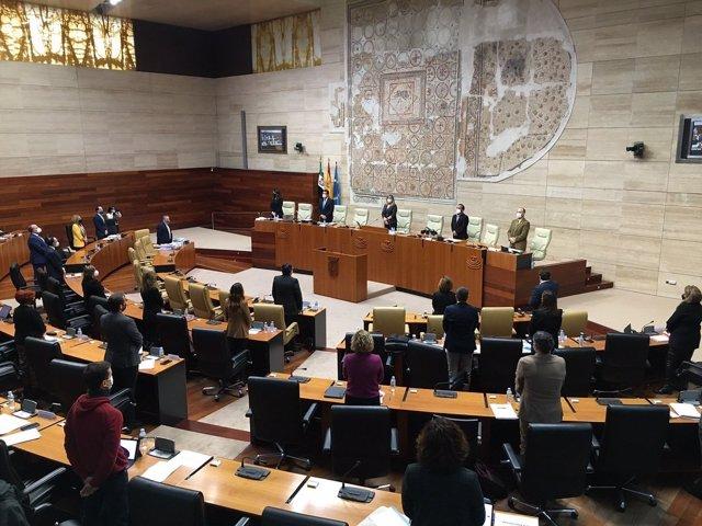 Pleno de la Asamblea de Extremadura para el debate de enmiendas parciales a los Presupuestos regionales para 2021