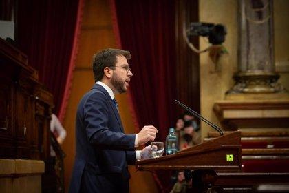 Aragonès afirma que el Govern no tiene sobre la mesa un confinamiento domiciliario