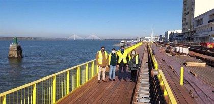 Las obras de ampliación y mejora del frente portuario del Guadiana se encuentran al 85% de su ejecución