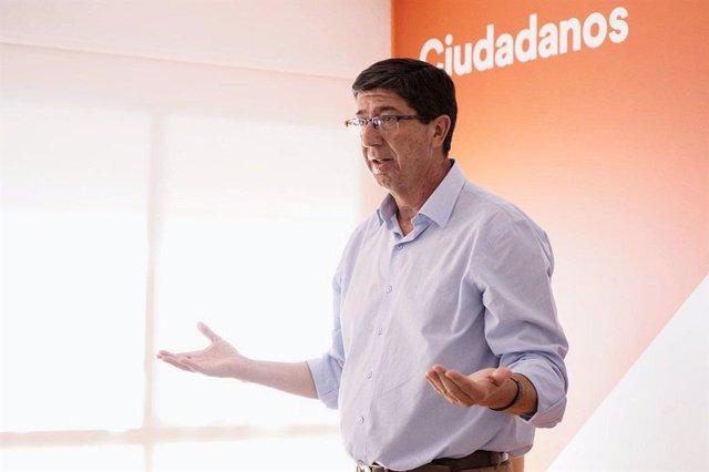 El líder de Cs en Andalucía, Juan Marín, en una imagen de archivo.