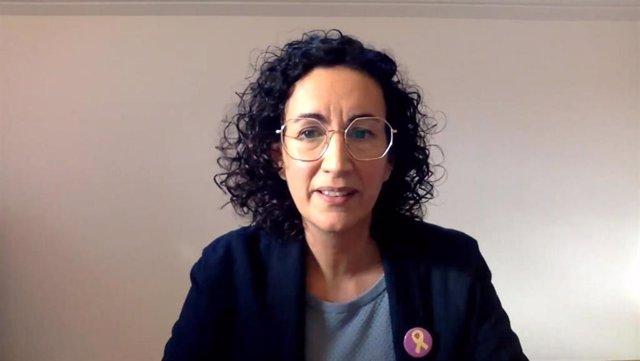 Marta Rovira durante el Consell Nacional de ERC