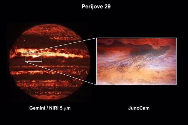 Doble enfoque para un punto caliente en Júpiter