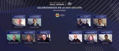 """Nadal en los CEU Ángel Herrera: """"Ojalá que los valores que intento transmitir sean un ejemplo adecuado para los jóvenes"""""""