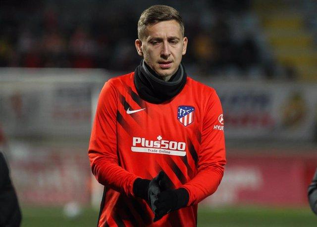 Ivan Saponjic con el Atlético de Madrid