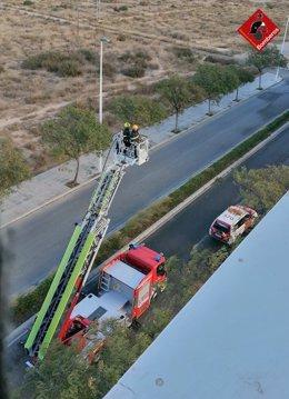 Actuación de los bomberos en imagen de archivo