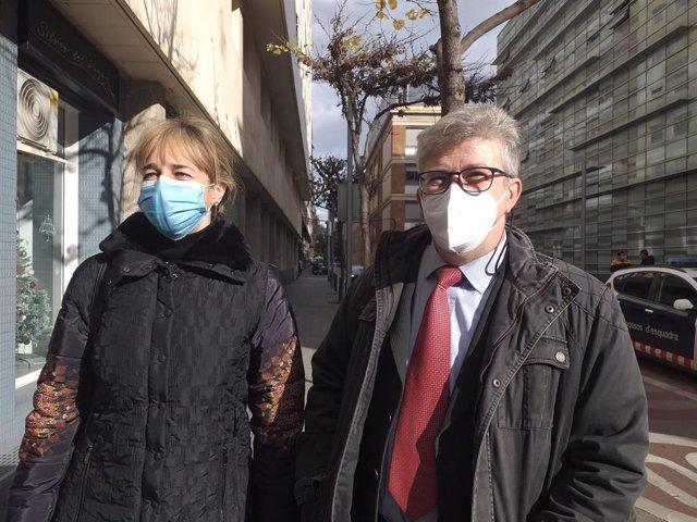 Los abogados de la exmujer del productor de televisión Josep Maria Mainat, Ángela Dobrowolski, Marian Avedillo y Juan Carlos Galbán