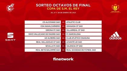Rayo Vallecano-Barcelona y Sevilla-Valencia, duelos de octavos en la Copa