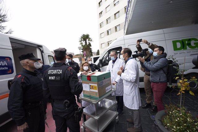 Recepción de vacunas contra el covid-19 en Euskadi