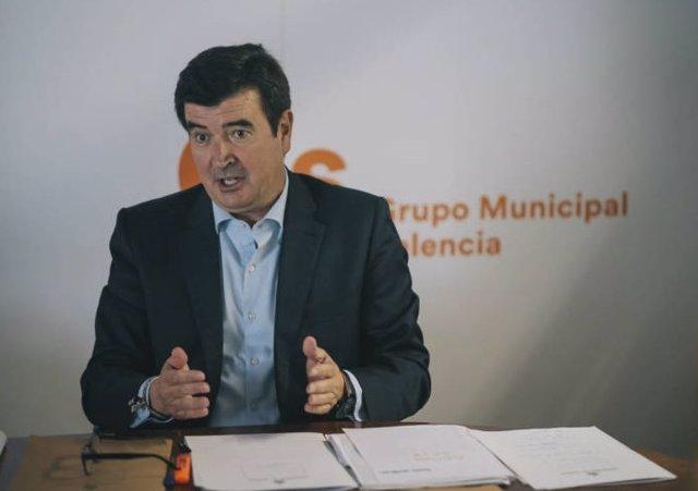 El portavoz de Cs en el Ayuntamiento de València, Fernando Giner.