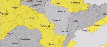 Avisos naranja y amarillo por vientos en varias zonas de Aragón y amarillo por nevadas en el Pirineo oscense