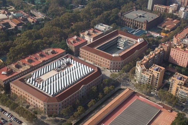 La Universitat Pompeu Fabra de Barcelona des de l'aire