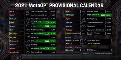 El Mundial 2021 de MotoGP empezará con una doble cita en Catar