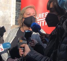 La candidata d'Esquerra en Positiu al Parlament, Celia Cánovas