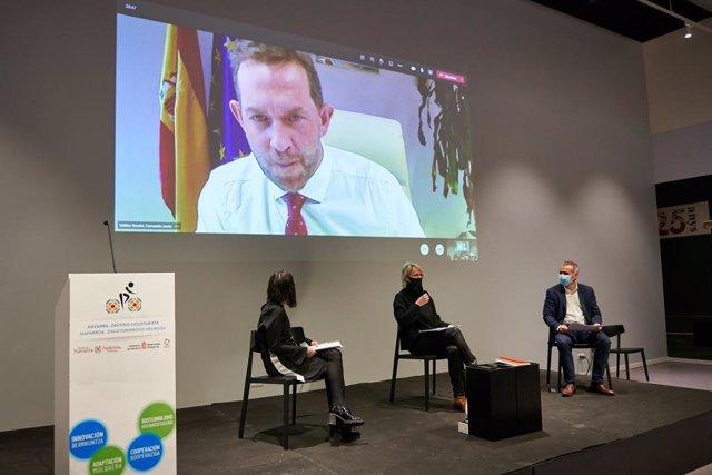 Fernando Valdés, secretario de Estado de Turismo, ha participado en la jornada por videoconferencia.