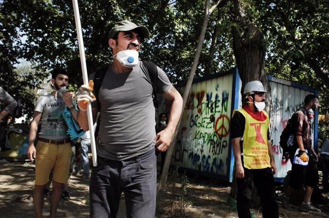 Protestes al parc Gezi d'Istanbul