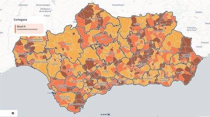 Los 399 municipios andaluces con cierre perimetral y los 186 sin actividad no esencial desde las 0 horas del 23 de enero