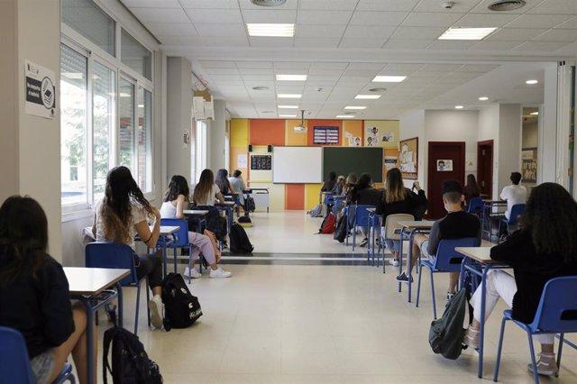 Alumnos en un centro educativo