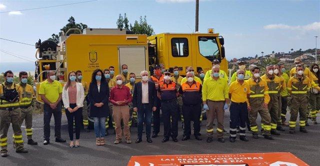 Operativo de incendios forestales en La Palma