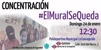 Una concentración ciudadana reclamará este domingo a la Junta el mantenimiento del mural feminista de La Concepción